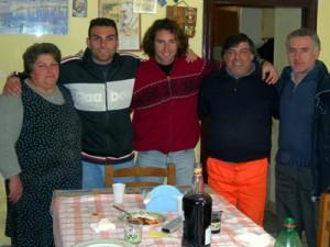 Con Pepe y su familia