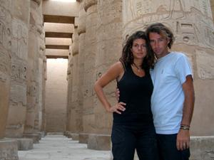 En el Templo de Karnak