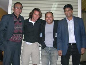 Con Mustafa, Ijaz y Arif