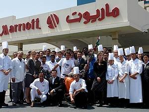 Pablo Garcia with Marriott Hotel Staff