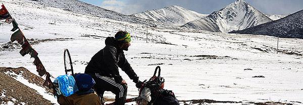 Pablo Garcia en el kuluku pass - Tibet