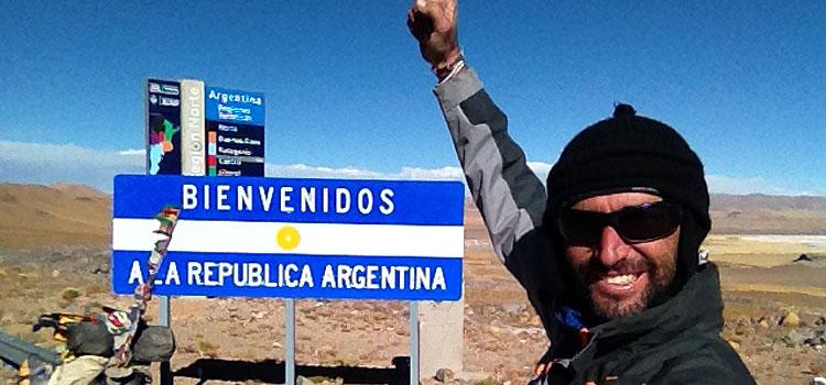 Pablo Garcia entrando a Argentina